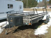 16 foot HD Cargo/Utility Trailer Tandem 3500 lb Axles NEW PRICE