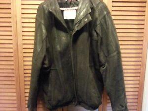 Mens Leather Bomber Jacket size 42-44 Cambridge Kitchener Area image 1