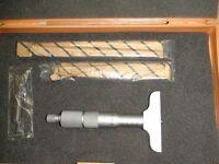 Micromètre de Profondeur Mitutoyo, Outils de Machiniste.