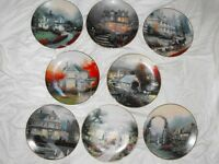 Thomas Kinkade HOME IS WHERE THE HEART IS Collector Plate Set