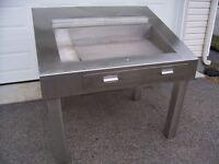 Table d'inspection / triage en acier inoxydable