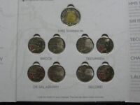 WAR OF 1812 QUARTER COLLECTION IN MOUNTING CARD