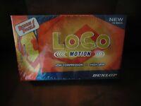 Brand New Box of Loco Motion Golf Balls