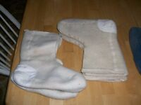 Army surplus wool boot liners,