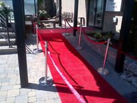 Red Carpet Rentals & Stachions Rentals..Reserve for TIFF Parties