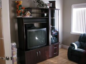 red Cherry wood colour Entertainment Center