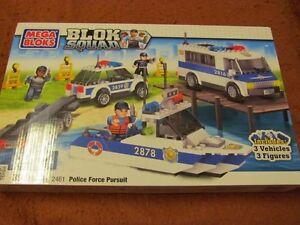 NEW, Blok Squad Mega Bloks - Police Force Pursuit, 5 +