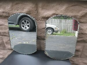 ANTIQUE BUFFET MIRRORS - $10 FOR THE PAIR