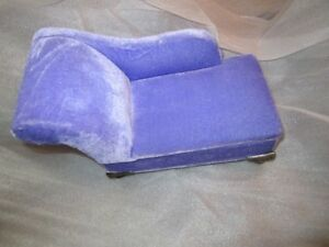 barbie doll furniture mauve chaise lounge