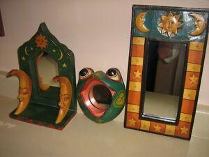 3 Miroirs en bois fait en Indonésie