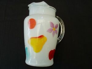 Gay Fad hand painted pitcher