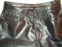 Pantalon de Cuir DKNY Grandeur 28 Homme