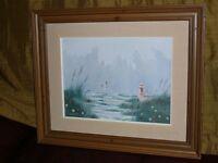 """Superbe tableau à l'huile sur toile 24""""x20""""signée CADRE en BOIS"""