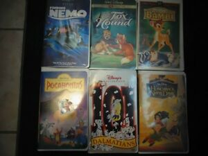 Selected Disney VHS Movies