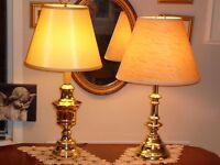"""Splendide lampe antique/1960 laiton doré 27"""" style Néoclassique"""