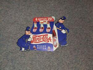 Pepsi & Pete affiche en carton 1940 West Island Greater Montréal image 1