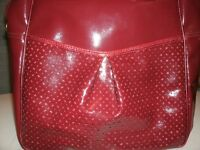 Shiny Large Red Hand Bag