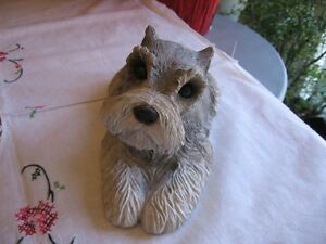 SCHNAUZER , SCOTTIE, COCKER SPANIEL DOG SCULPTURE