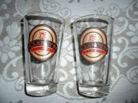 Thick Glass Clancy's Amber Ale Glasses