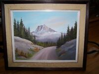 Small Landscape Original Oil Painting - M. Bott