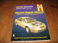 Haynes Repair Manual / Honda Accord 1998 to 2002