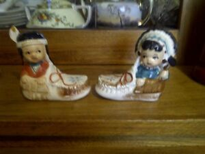 Native Salt & Pepper shakers
