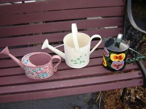 6 WATERING CANS/PATIO ITEMS London Ontario image 2