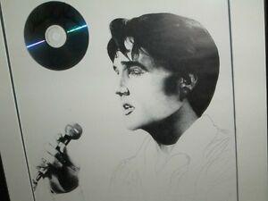 Elvis Presley Ltd. Edit.Litho signed by Priscilla Presley framed