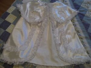 GORGEOUS SATIN AND LACE BAPTISIMAL OUTFIT Cornwall Ontario image 2