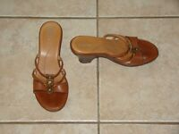CLARKS LADIES WEDGE SANDAL SHOES SIZE 8