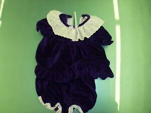 Velvet dress size 9 mth