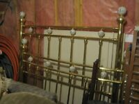 Brass Bed with porcelin balls
