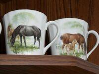 4 Royal Stuart Tea Cups