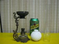 Miniature Oil Lamp Parts - Antique