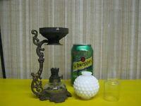Miniature Oil Lamp Parts - Antique Chimney - Rare!