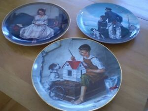 NORMAN ROCKWELL COLLECTOR PLATES MUGS AND GLASSES Windsor Region Ontario image 1