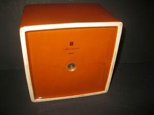 "BRAND NEW Large  Orange Porcelain Trinket Box 8"" X 8"" MINT Windsor Region Ontario image 5"