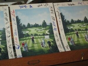 P.G.A. Golf signed lithographs each by 25 - 30 pros