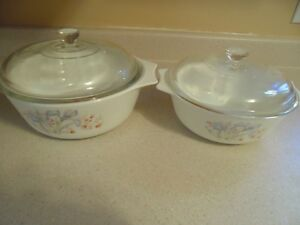 2 Pyrex Ceramic Dishes With Covers