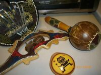Hand Painted/Hand crafted instruments x 4.