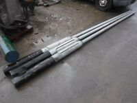 1 new steel lamp pole 6m high
