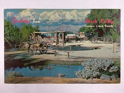 Greetings From Furnace Creek Ranch, Death Valley, California Chrome Postcard