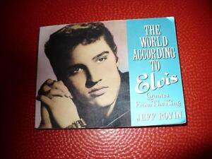 THE WORLD ACCORDING TO ELVIS ( BOOK )