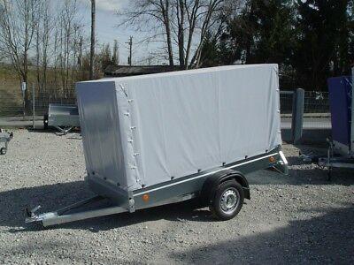 PKW Anhänger stabil extra groß 750 kg, Ladefläche 2,65 x 1,25 m, Hochplane 1,5 m