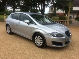 SEAT LEON 1.6 TDi S CR, £20 Road Tax, MOT Jan 2018. Excellent All Round (silver) 2010