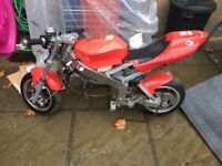 110cc Midi Moto Rolling Chassis unfinished project