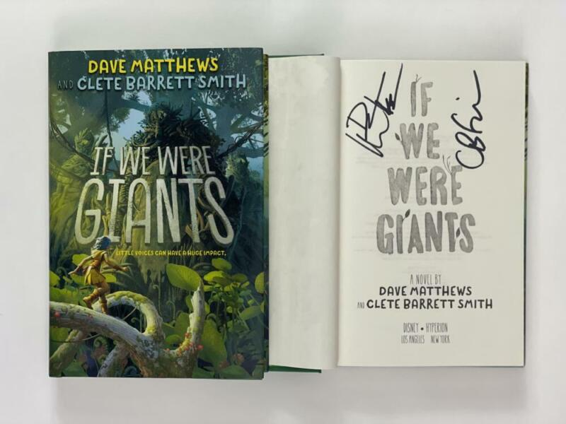"""DAVE MATTHEWS SIGNED AUTOGRAPH """"IF WE WERE GIANTS"""" BOOK - BAND CRASH, VERY RARE!"""