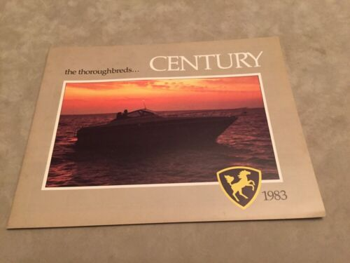 CENTURY BOAT~BOATS~1983 ORIGINAL SALES BROCHURE~MINT CONDITION~CORONADO~RESORTER