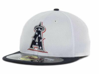 Los Angeles of Anaheim Angels 7 1/8 New Era 59FIFTY Baseball MLB July 4th Hat - 4th Of July Baseball Hats