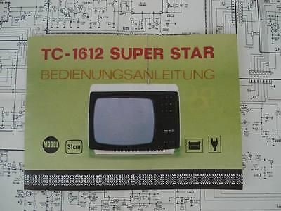 TV Bedienungsanleitung & Schaltplan TC 1612 31cm 1970er Jahre